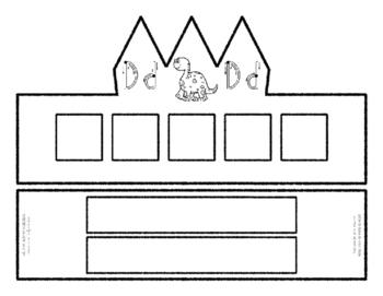 Beginning Alphabet Sound Crown Hat Set for the letter D
