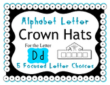 Beginning Alphabet Sound Crown Hat Set for the letter D
