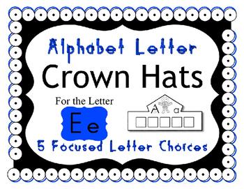 Beginning Alphabet Sound Crown Hat Set for the letter E