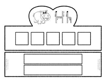 Beginning Alphabet Sound Crown Hat Set for the letter H