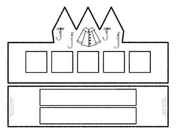 Beginning Alphabet Sound Crown Hat Set for the letter J