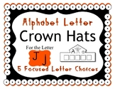 Beginning Alphabet Sound Crown Hat Set for the letter J