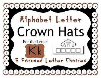 Beginning Alphabet Sound Crown Hat Set for the letter K