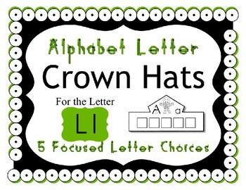 Beginning Alphabet Sound Crown Hat Set for the letter L