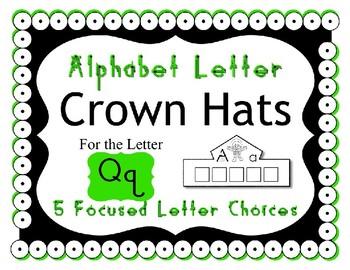 Beginning Alphabet Sound Crown Hat Set for the letter Q