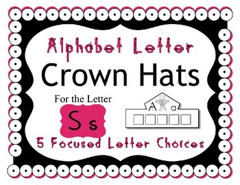 Beginning Alphabet Sound Crown Hat Set for the letter S