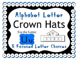 Beginning Alphabet Sound Crown Hat Set for the letter U