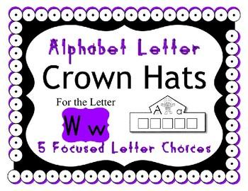 Beginning Alphabet Sound Crown Hat Set for the letter W