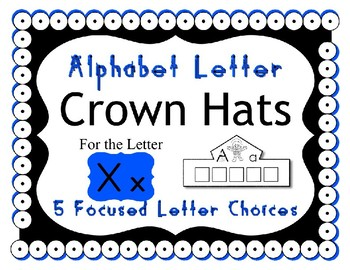 Beginning Alphabet Sound Crown Hat Set for the letter X