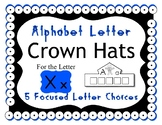 Beginning Alphabet Sound Crown Hat Set for the letter X