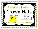 Beginning Alphabet Sound Crown Hat Set for the letter Y
