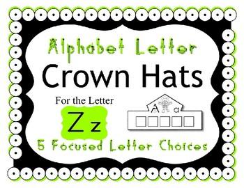 Beginning Alphabet Sound Crown Hat Set for the letter Z