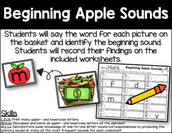 Beginning Apple Sounds - Initial Sound Identification