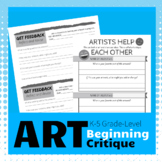 Beginning Artist Critique - Teach healthy peer assessment
