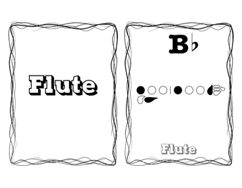 Beginning Band Bb Scale Fingering Posters - Half Page