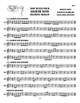 Beginning Band Skills Builder Eighth Notes FULL INSTRUMENTATION