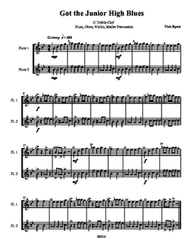 Beginning Band Flexible Instrumentation Duet: Got the Junior High Blues