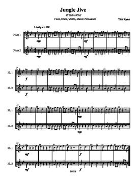 Beginning Band Flexible Instrumentation Duet: Jungle Jive
