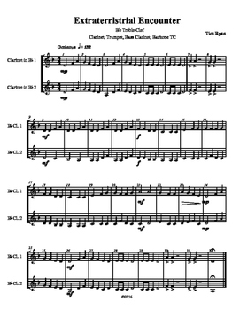 Beginning Band Flexible Instrumentation Duet: Extraterrestrial Encounter