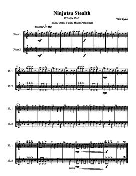 Beginning Band Flexible Instrumentation Duet: Ninjutsu Stealth