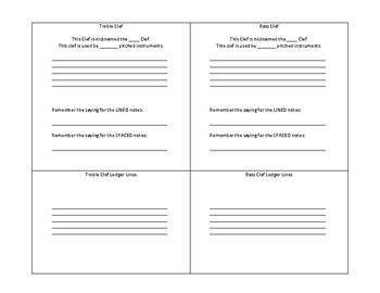 Beginning Band Intro to Theory Worksheet