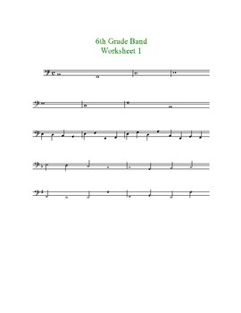 Beginning Band Key Signature/Accidental Worksheets--treble and bass clefs