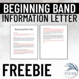 Beginning Band Letter (Editable)