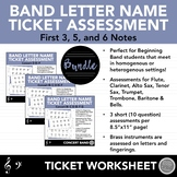 Beginning Band Letter Note Name Ticket Assessments - Concert Bb Bundle