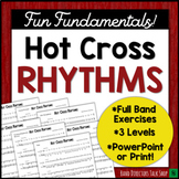 "Middle School Band Music: Fundamentals for Band ""Hot Cross Rhythms"""