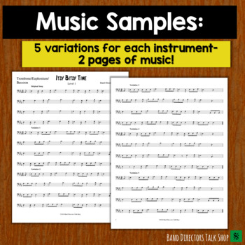 "Middle School Band Music: Fundamentals for Band ""Itsy Bitsy Triplets"""