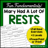 """Middle School Band Music: Fundamentals for Band """"Mary Had A Lot of Rests"""""""