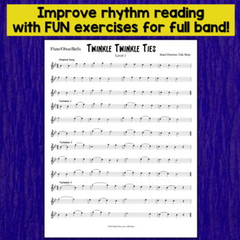"Beginning Band Music: Fundamentals for Band ""Twinkle Twinkle Ties"""
