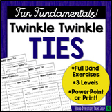 """Middle School Band Music: Fundamentals for Band """"Twinkle Twinkle Ties"""""""