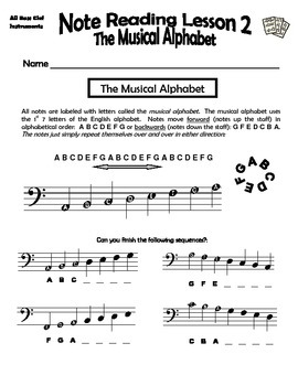 Beginning Band Note Reading Sample Pack