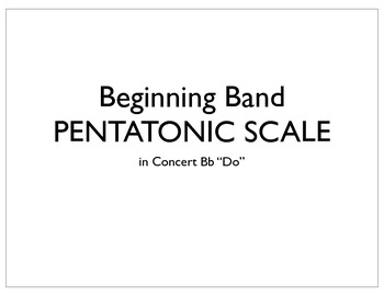Beginning Band Pentatonic Scale Fingering Chart (in Concer
