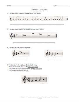 Beginning Band Quiz