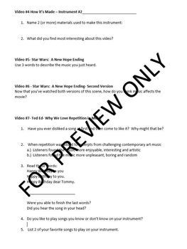 """Music Sub Plan """"Emergency Plan #2"""" for Band or Upper Elementary Music"""