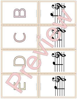 Beginning Baritone (Treble & Bass Clef) Fingering/Note/Note Name Flashcards