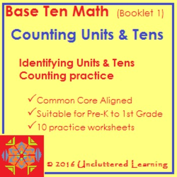 Base Ten Math Booklet 1 - Counting Units and Tens