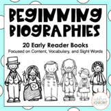 Beginning Biographies {Student Books, Notes, Questions, and Character Awards}
