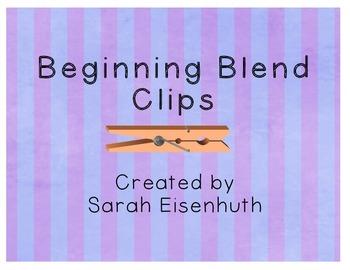 Beginning Blend Clip Cards