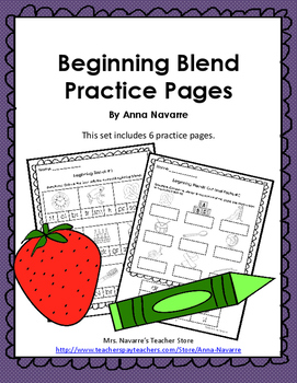 Beginning Blend Practice Pages