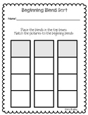 Beginning Blend Sort: A Cut and Paste Activity