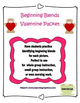 Beginning Blend Valentine Words
