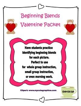 Beginning Blend Valentine Words