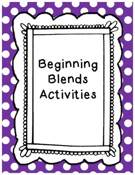 Beginning Blends Activities