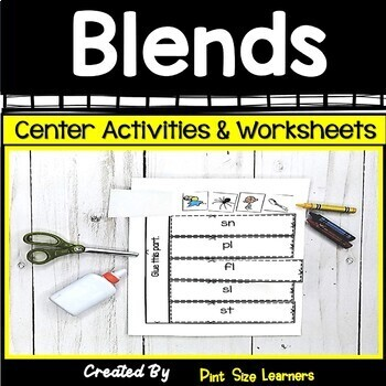 Beginning Blends Activities and Worksheets