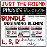 Beginning Blends BUNDLE, Phonics Friends Character Only, J