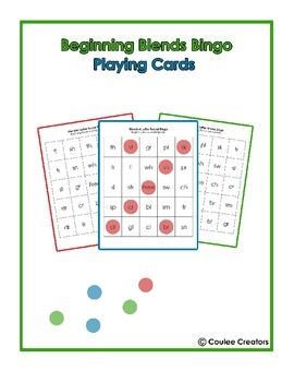 Beginning Blends Bingo - Working on Beginning Consonant Blends