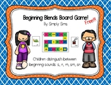 Beginning Blends Board Game Freebie